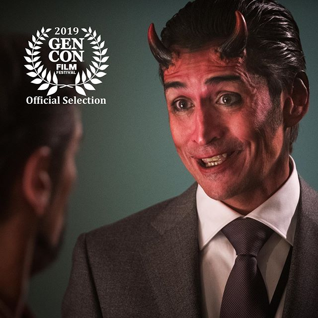 We're getting pretty excited about the screening of Necessary Evil at @gen_con in just a few weeks! It's awesome to be sharing a screen again with @nerdvseries who will also be there. And there just might be an appearance from @mr.markmeer who will be at the convention showing off his devilish charm...