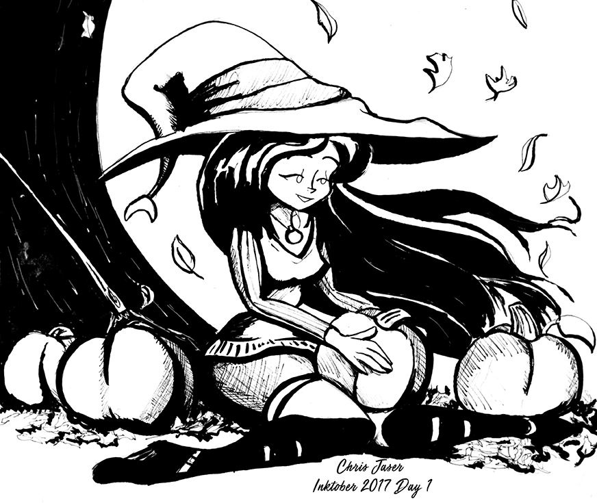 Inktober 1 Fall Witch.png
