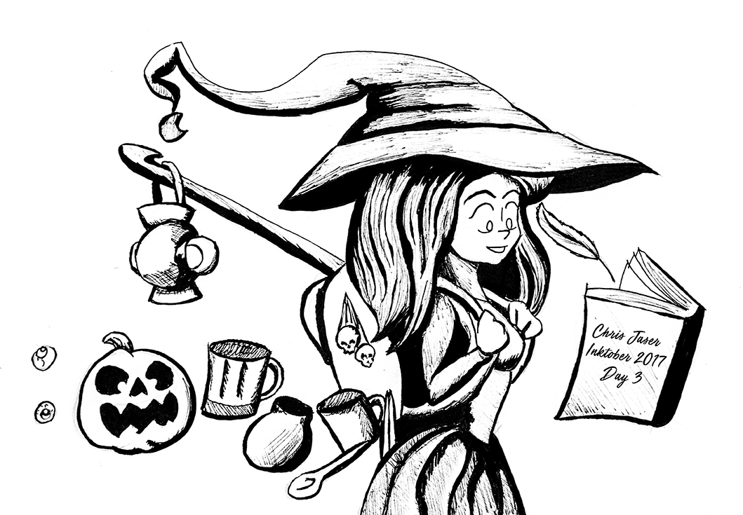 Inktober 3 Merchant Witch.png