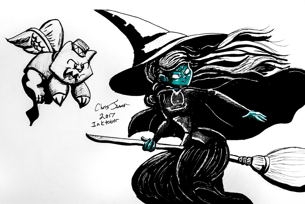 Inktober 10 Wicked Witch.png