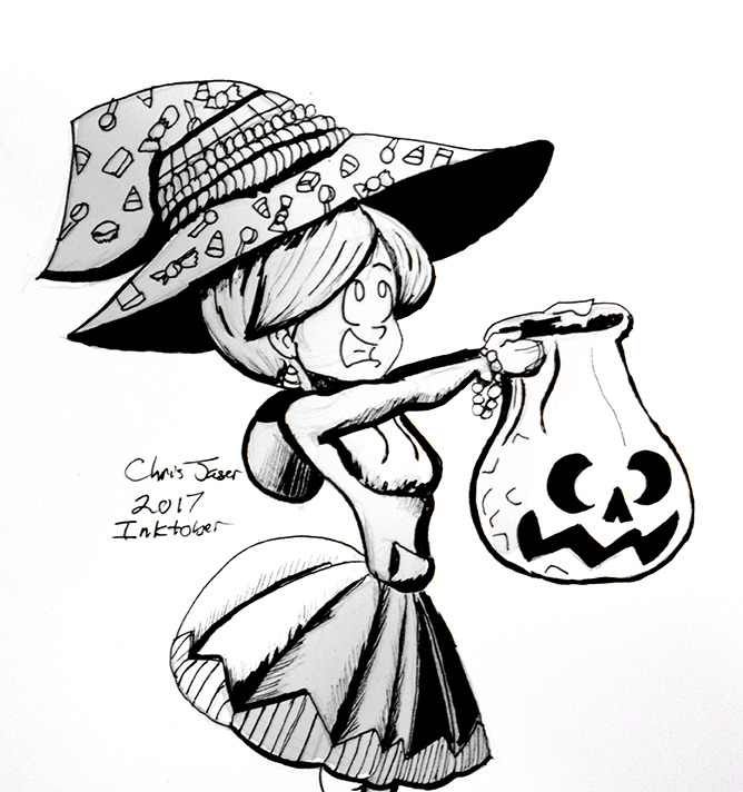 Inktober 12 Candy Witch.png