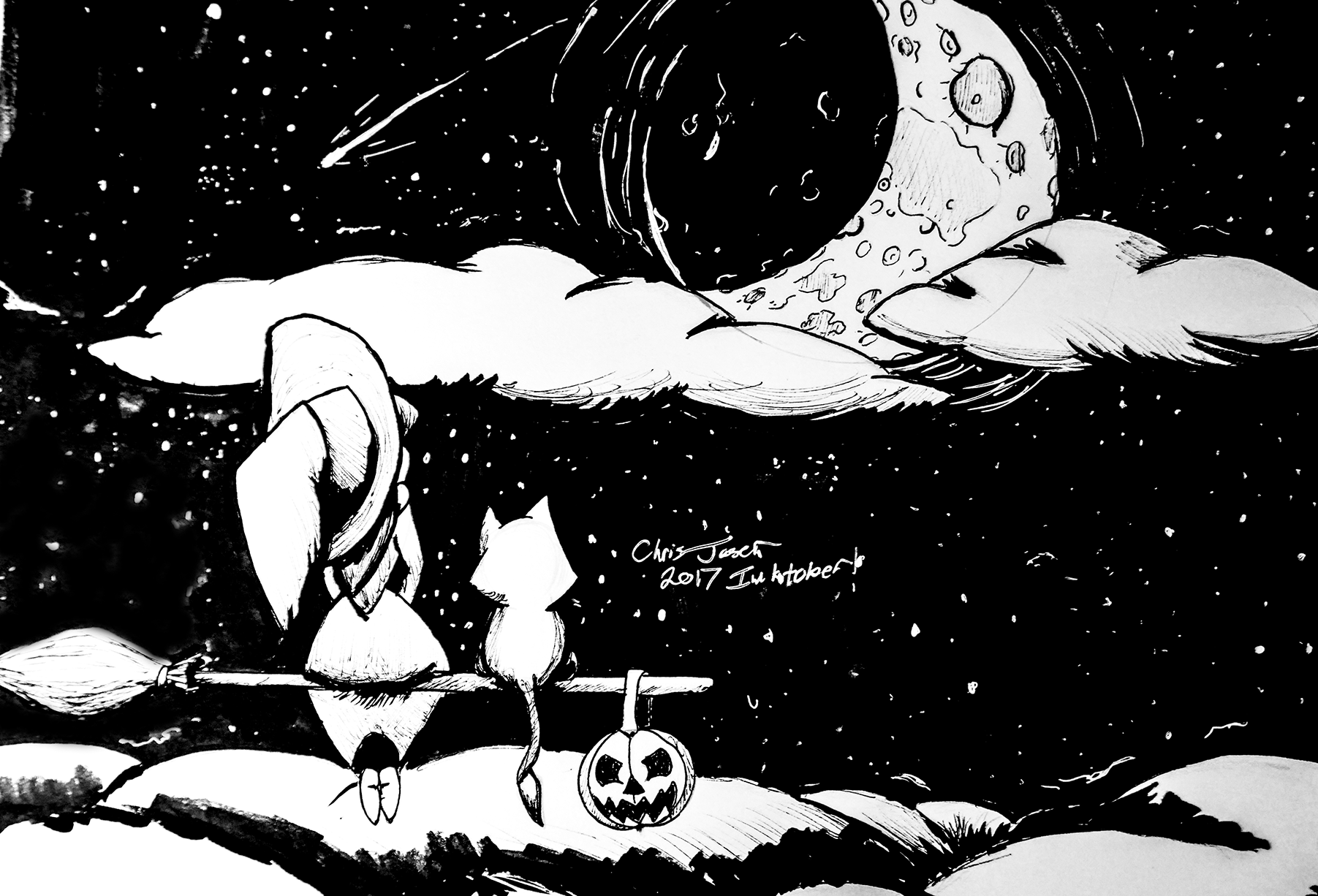 Inktober Moon Witch.png