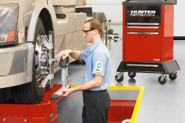 Wheel Alignments & Suspension Repair - Our laser accurate Hunter alignment machines and trained technicians will get you rolling straight - FAST! A Nationwide TA Truck Service Warranty guarentees our work.
