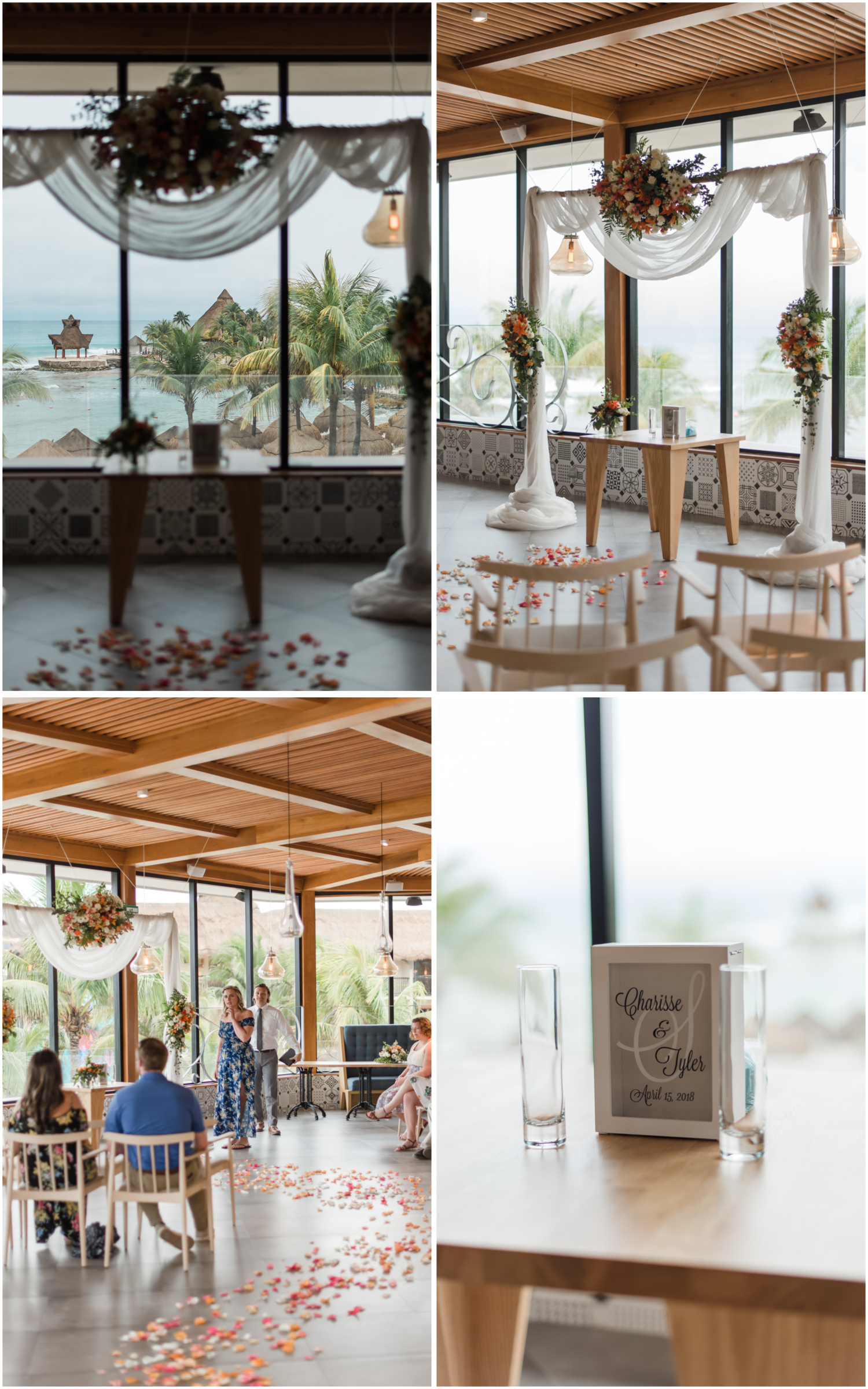 indoor ceremony for destination wedding