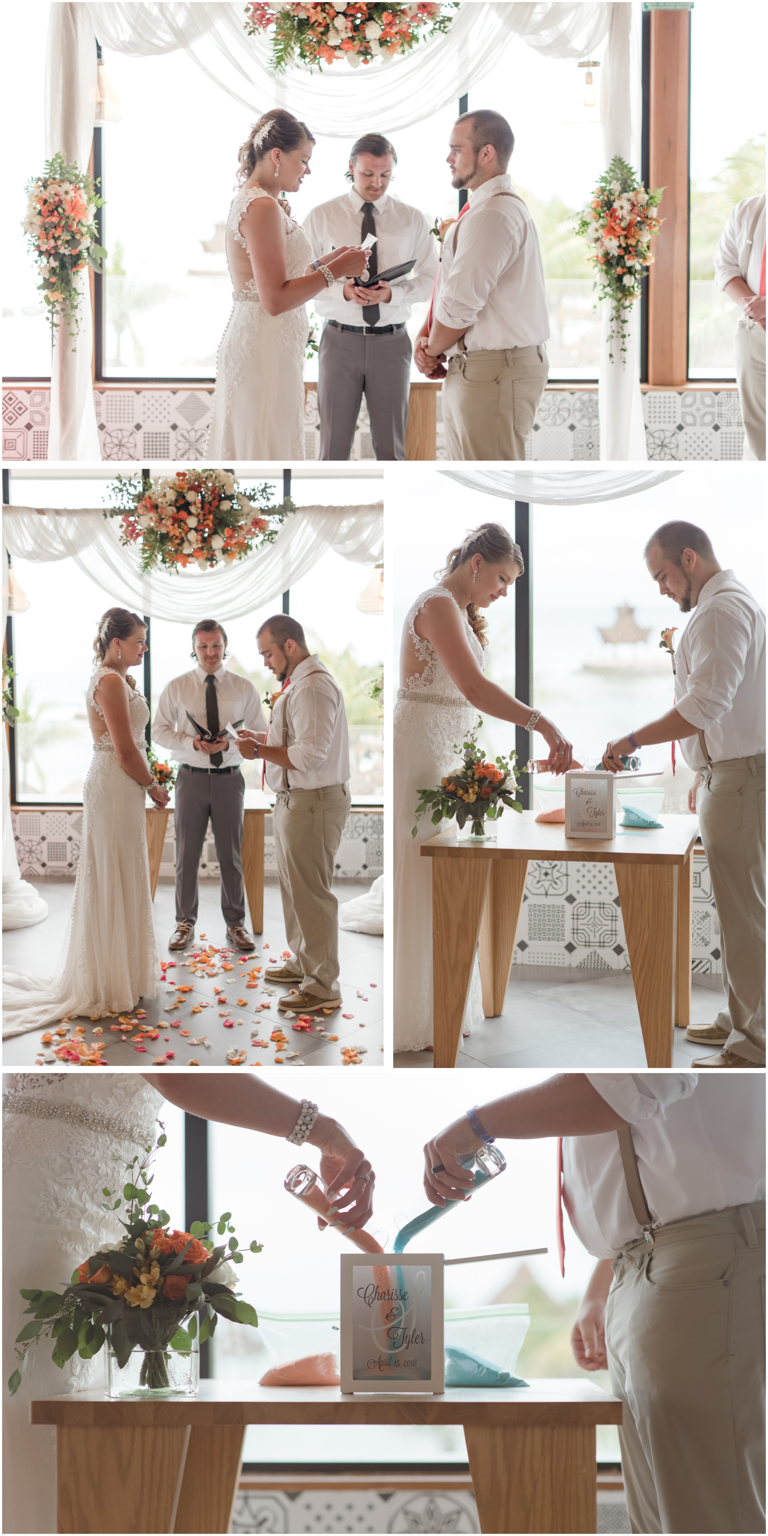 sand ceremony at a destination wedding