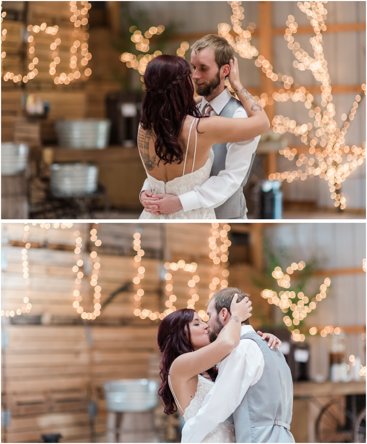first dance with Christmas Lights