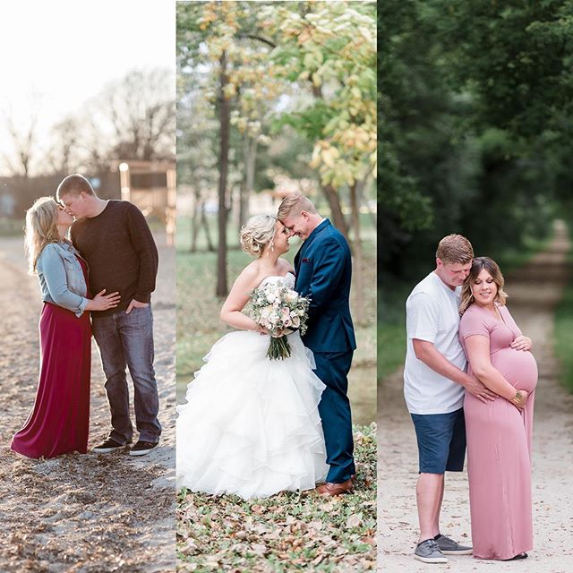I've had the honor of photographing some pretty awesome life events for this amazing couple! 💖💖 . . . . #wisconsinphotographer #wisconsin