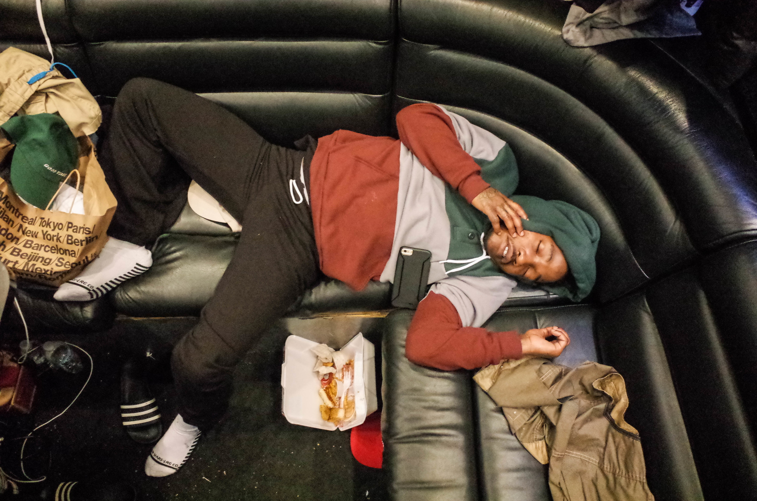 Dizzy knocked out after a show in Denver.
