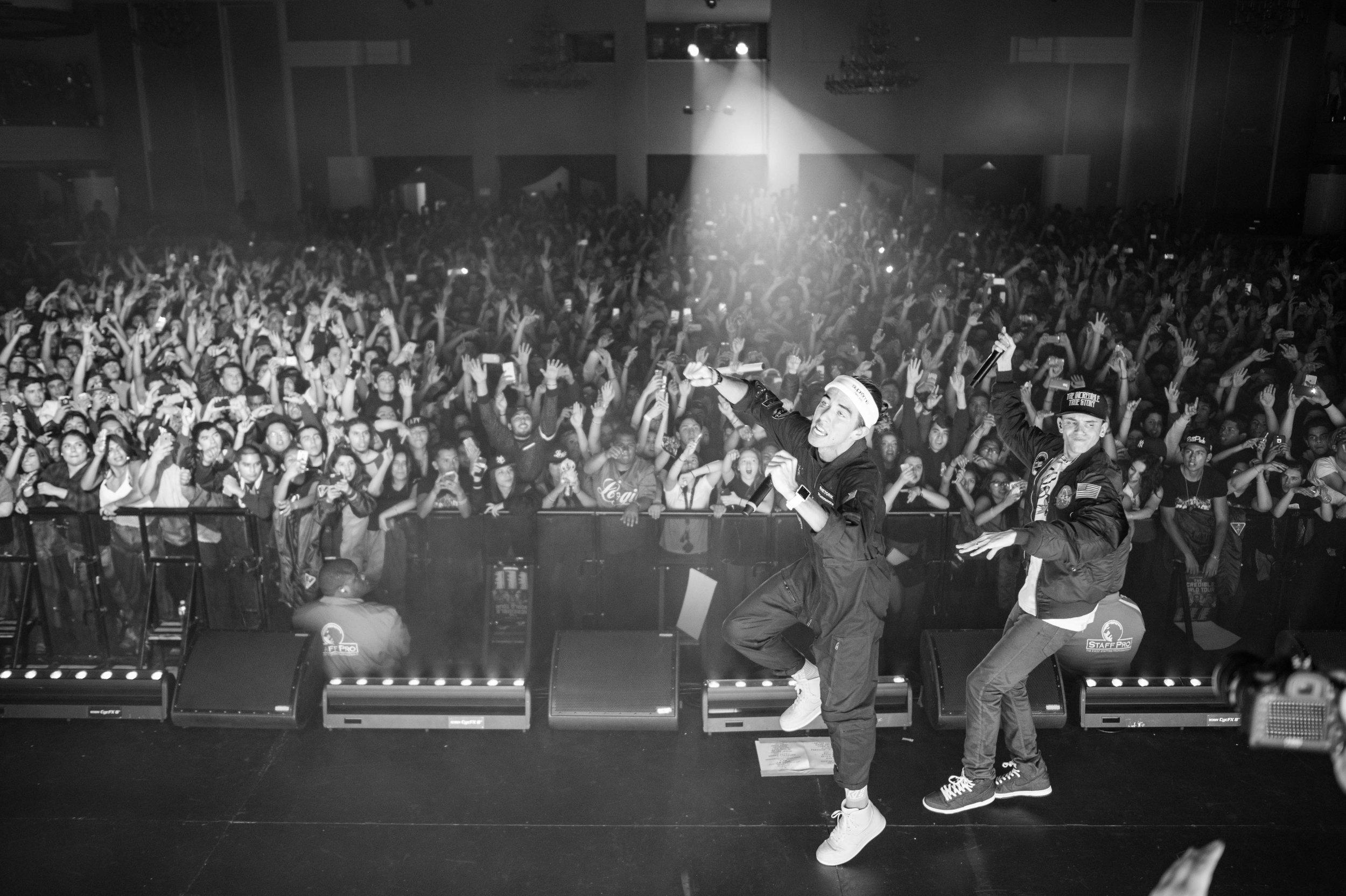 Logic and Rhetorik rocking a sold out crowd in LA