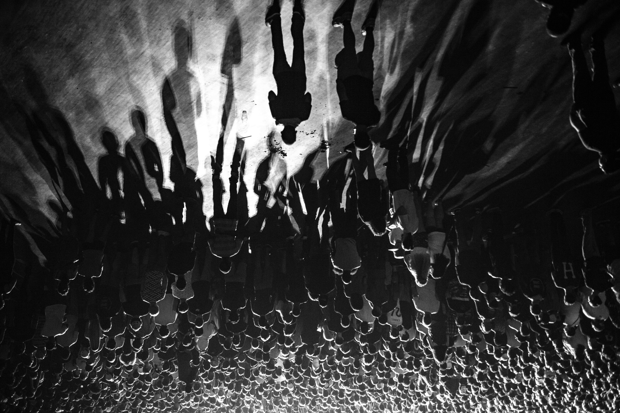 Crowd shadows during a show in DC