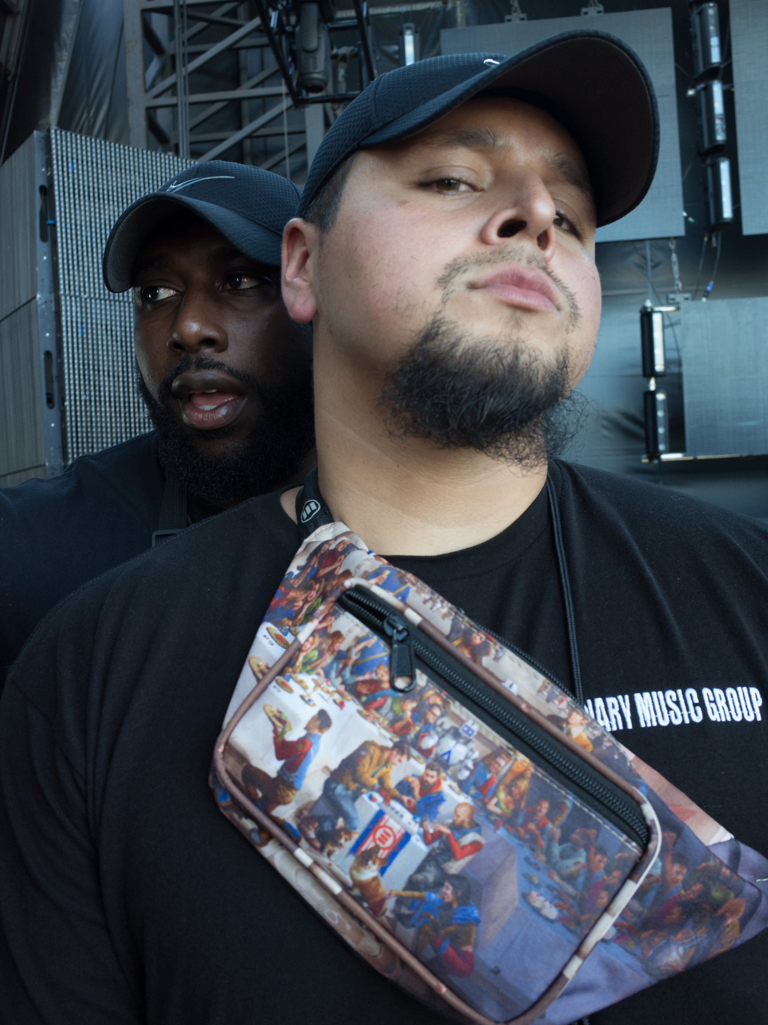Jordan and Pep during a soundcheck.