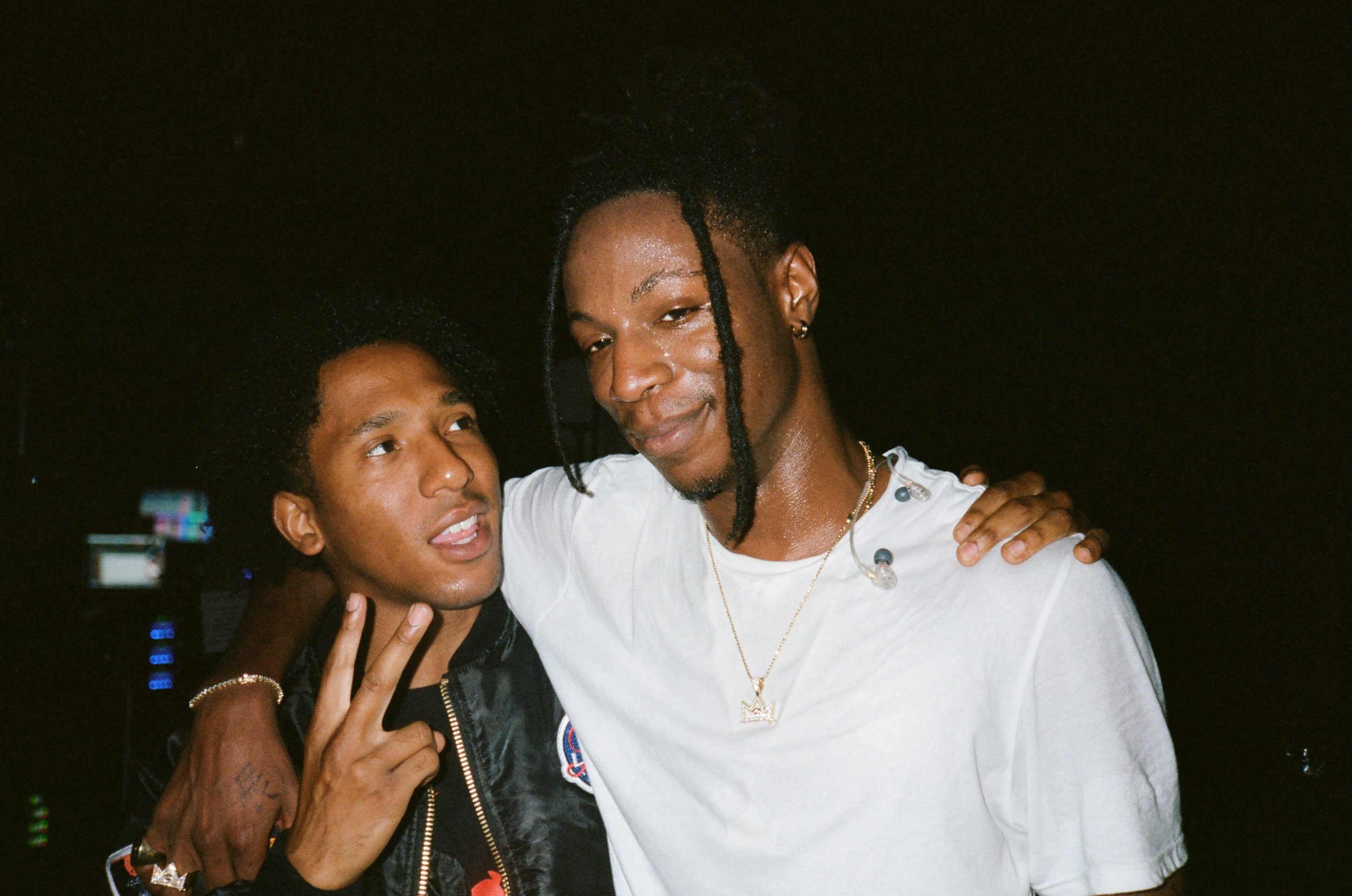 Damian and Joey Badass share a moment after his hometown performance in NYC