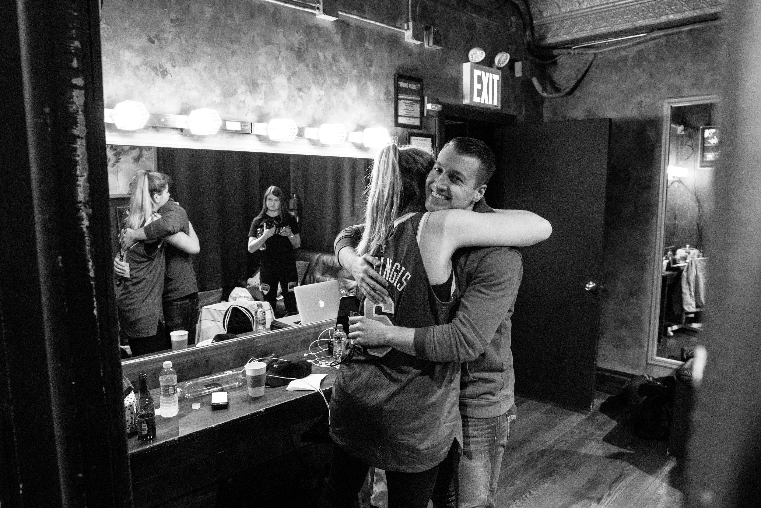 Chelsea Cutler embracing Chris Zarou, 2018
