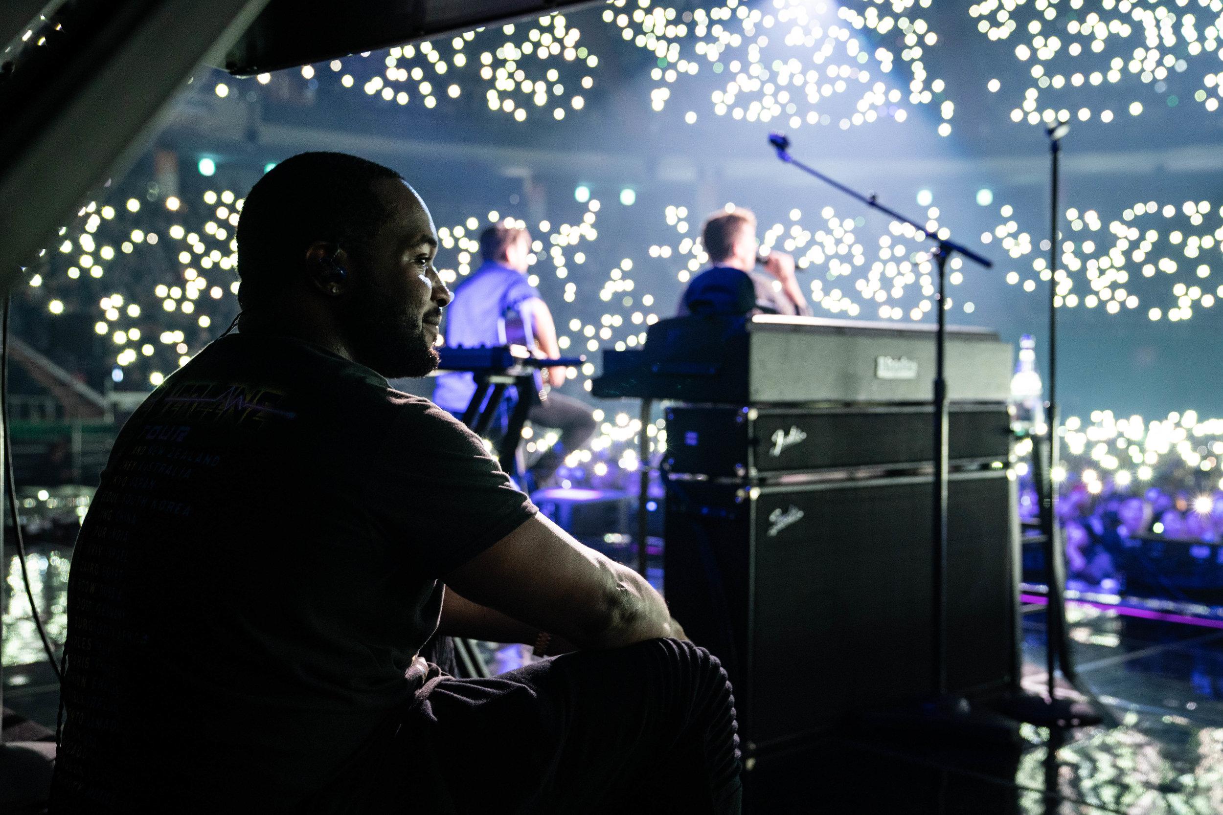Darek Cobbs, during a show in Seoul, 2018