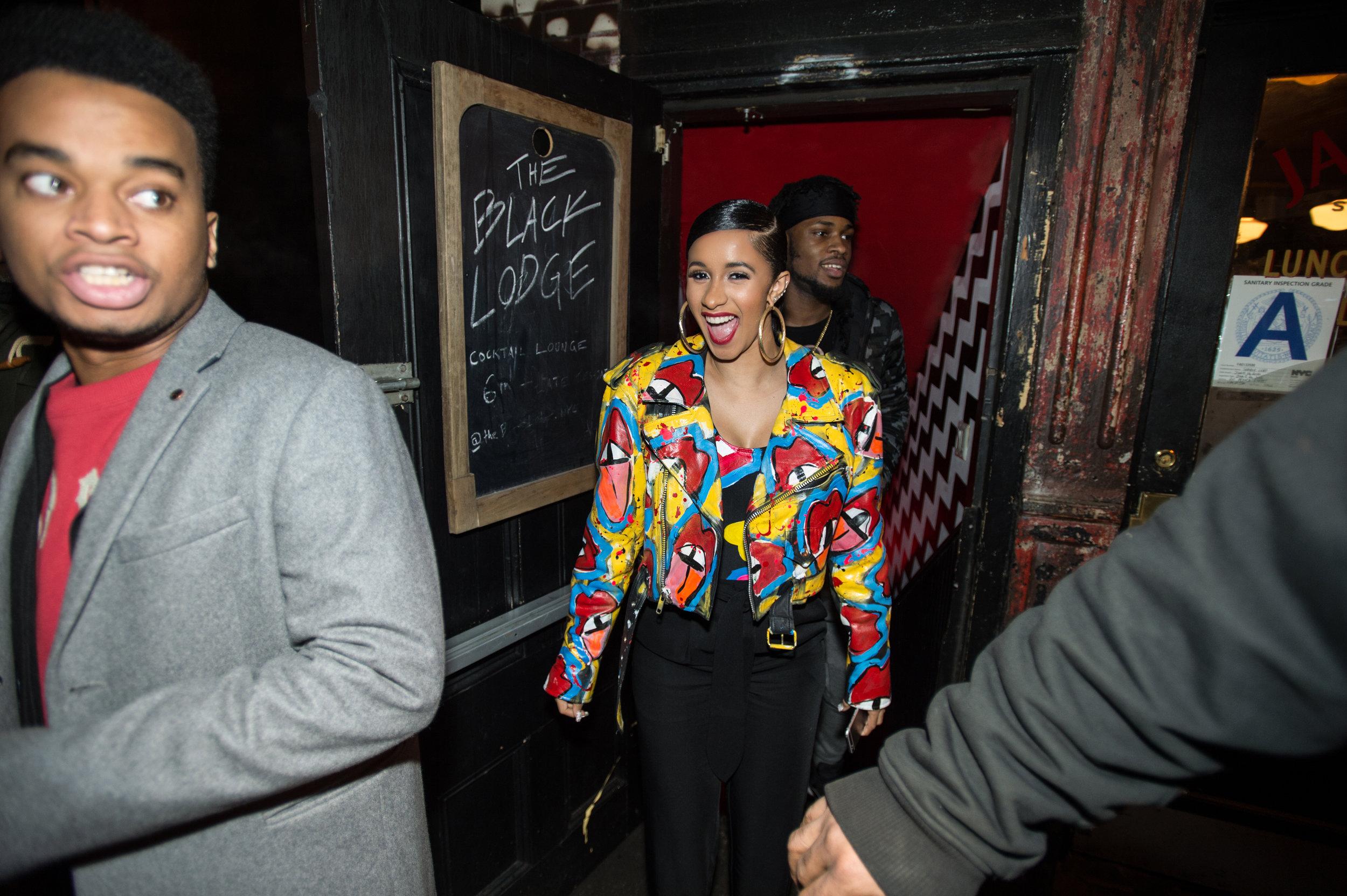 Cardi B outside a club in NYC, 2017