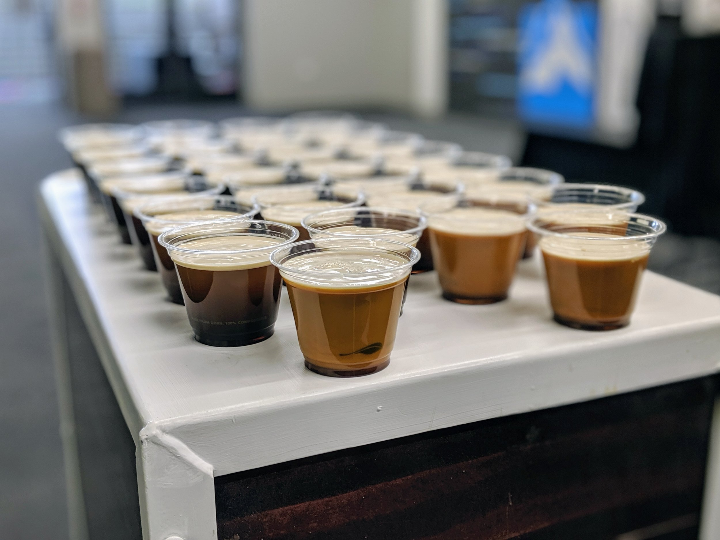 Nitro Cold-Brew Coffee ready for the crowd.