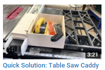 Quick Solution: Table Saw Caddy