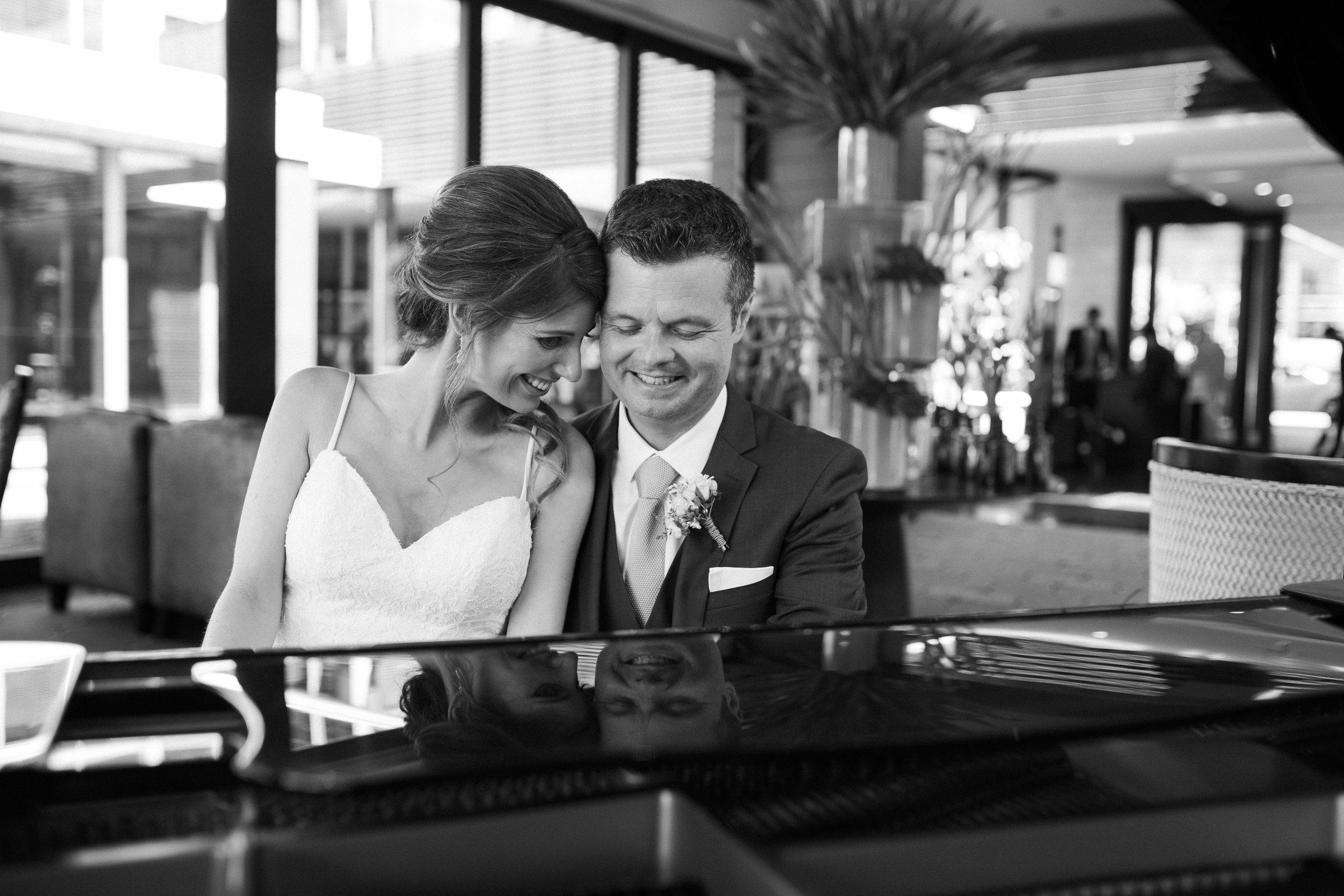 Sofitel wedding photo with piano