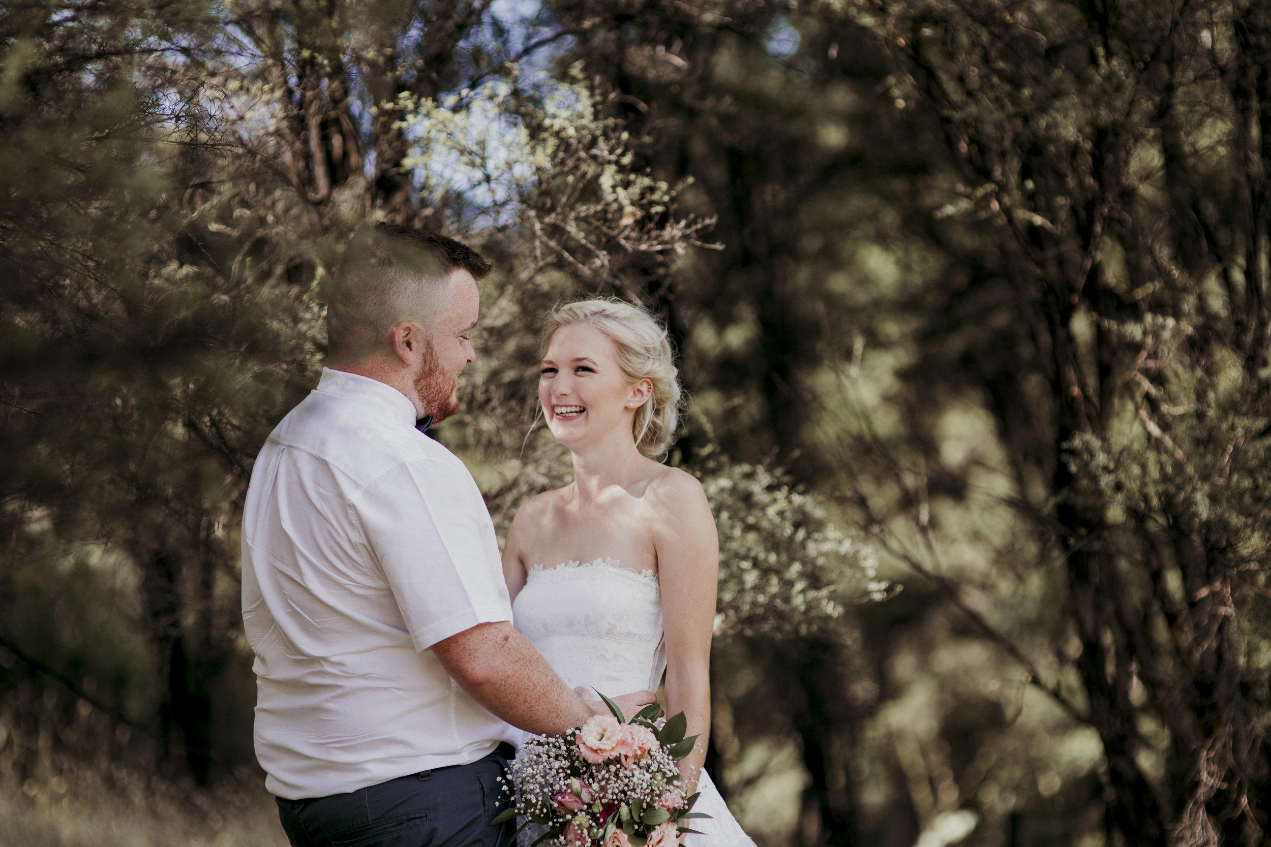 Hunua Falls wedding photo
