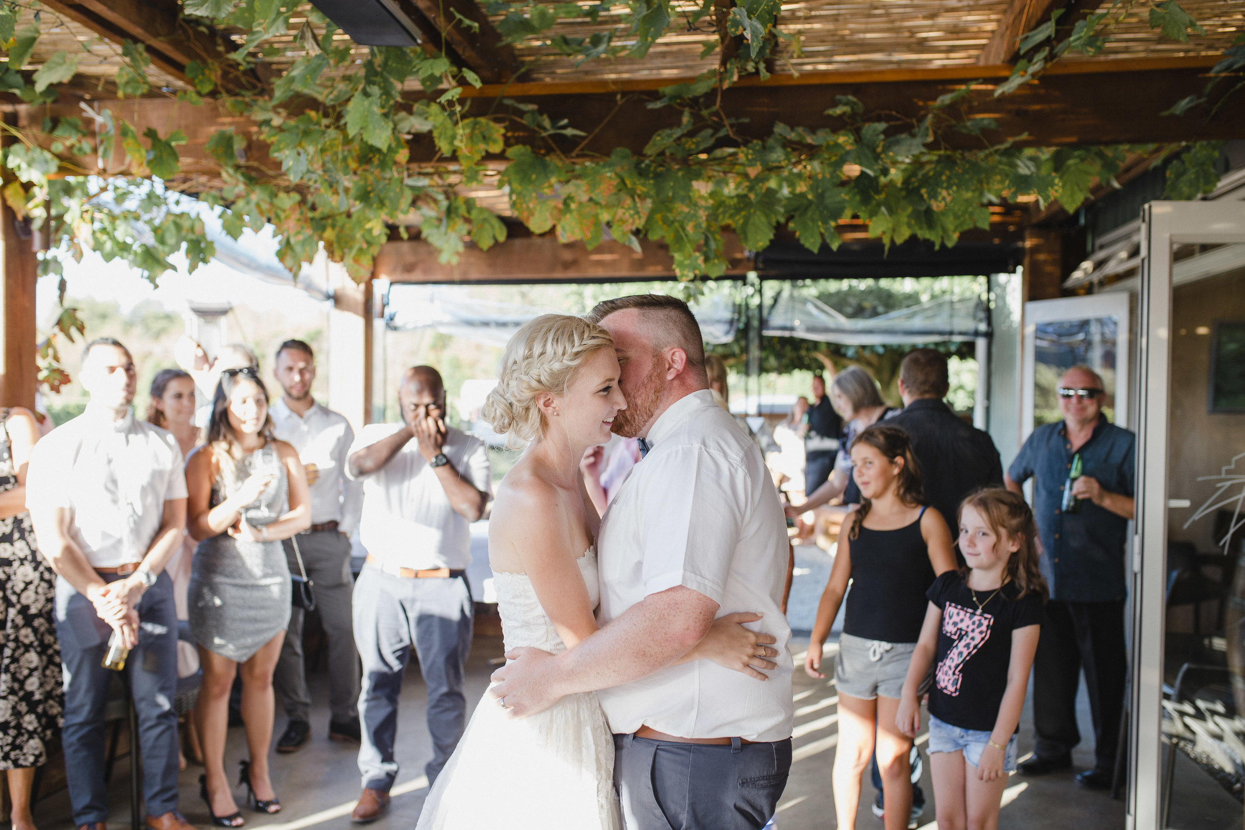 First dance wedding photo at John Hill Estate Hunua