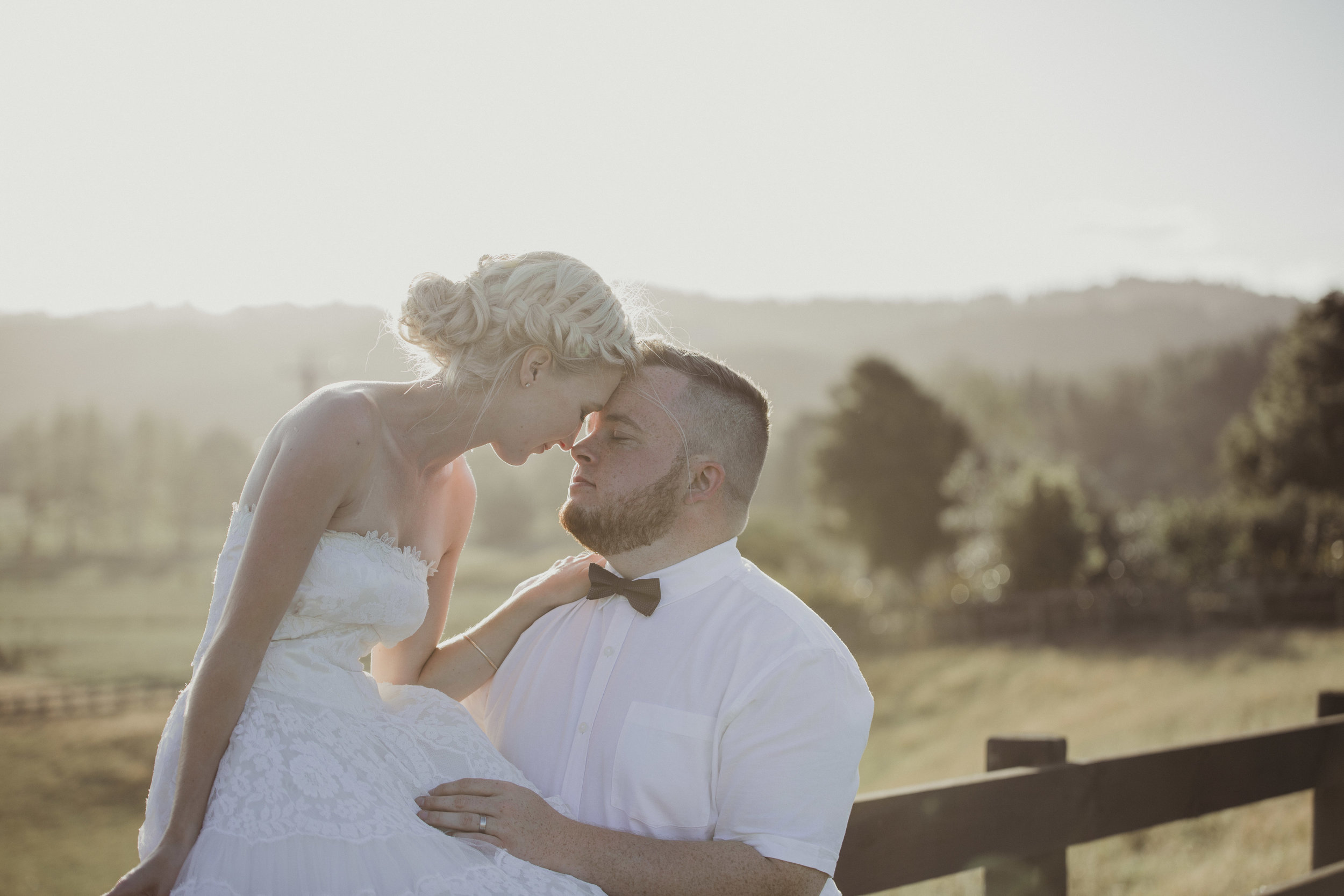 John Hill Estate sunset wedding photo