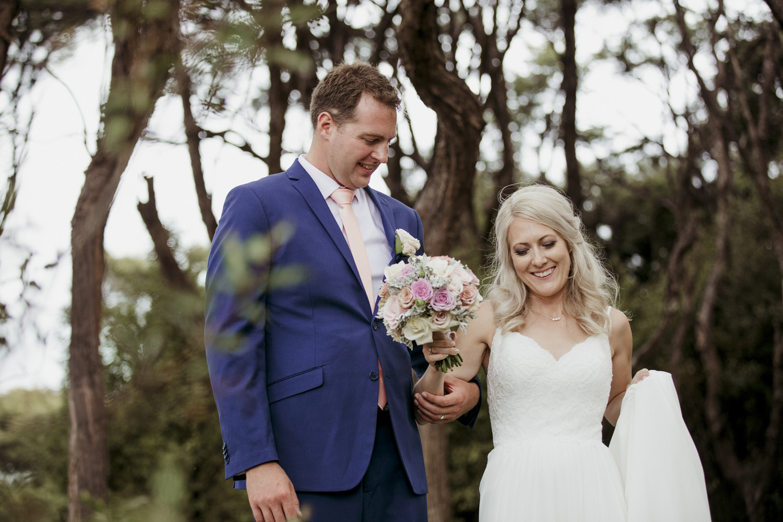Bride and groom wedding photo at Mudbrick