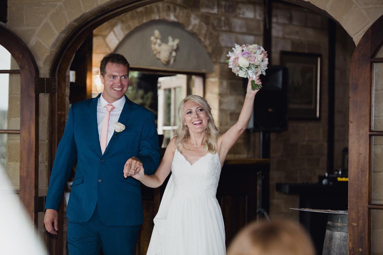 Bridal entrance at Mudbrick wedding reception