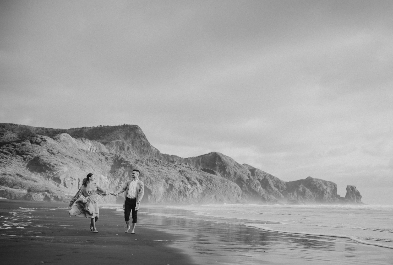 Auckland West Coast beaches engagement session