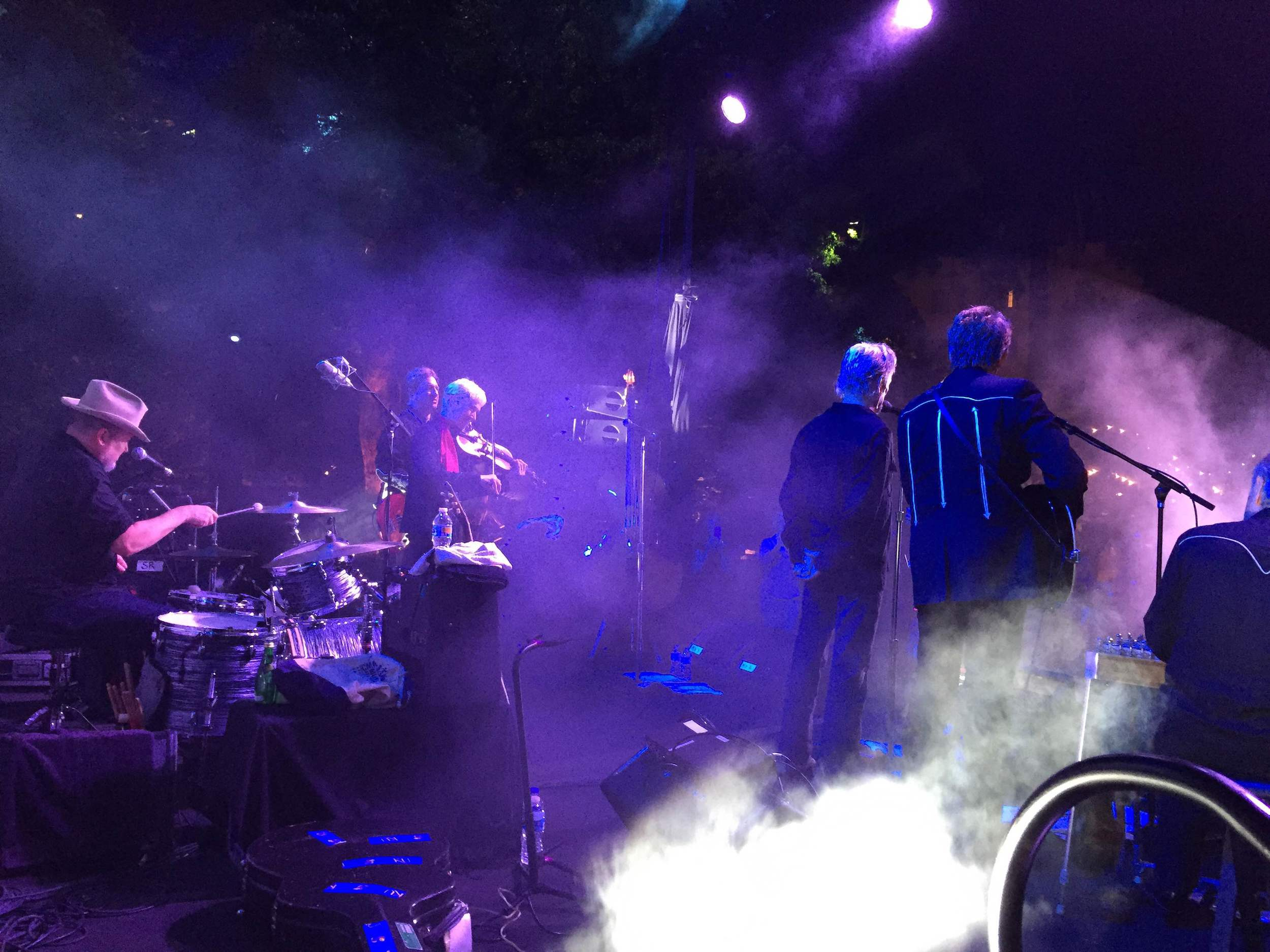 Side stage view