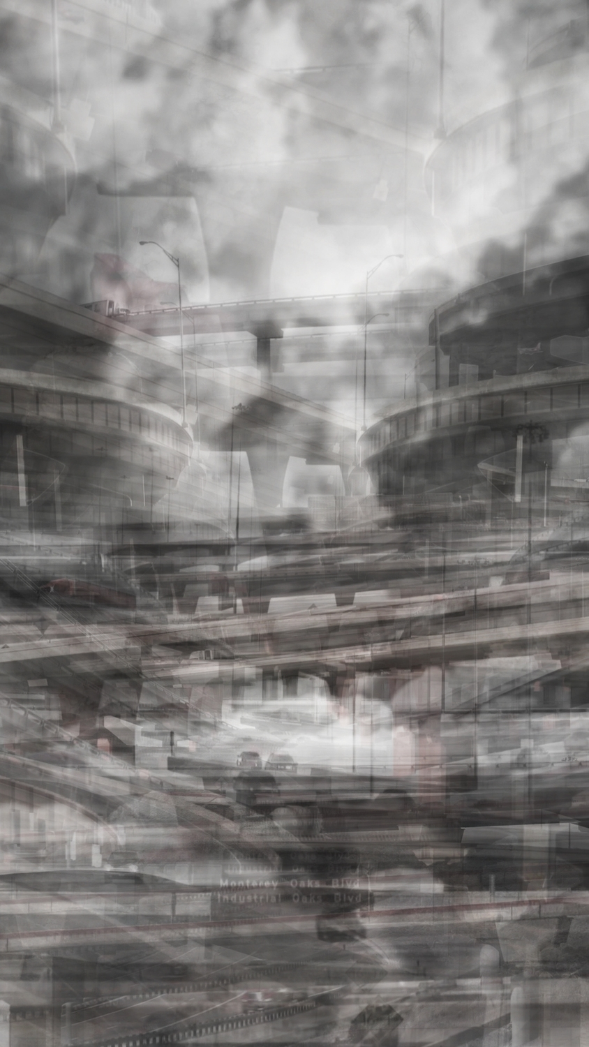 Monuments 1,766 frames. 2013   Inkjet Print Digital Image from collapsed video  27 x 15 inches  Edition of 20  unframed