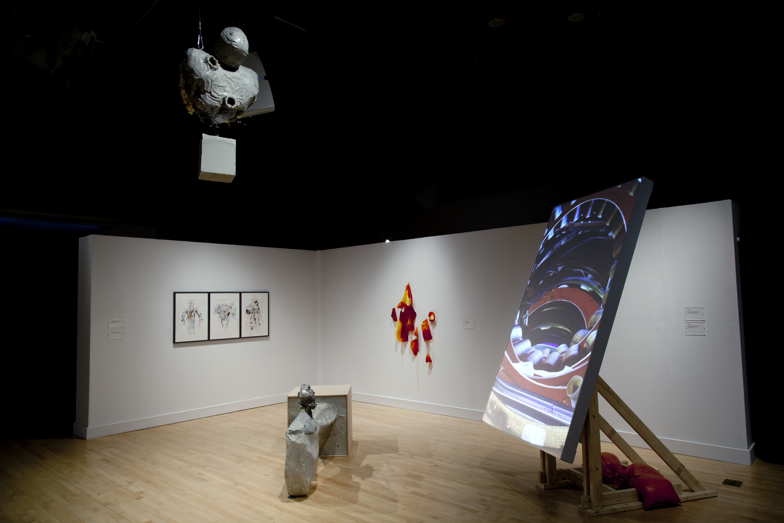 The Way Station and the Gravity Well  , 2016. Installation view, CADVC, UMBC. Photo by Jason Hughes.