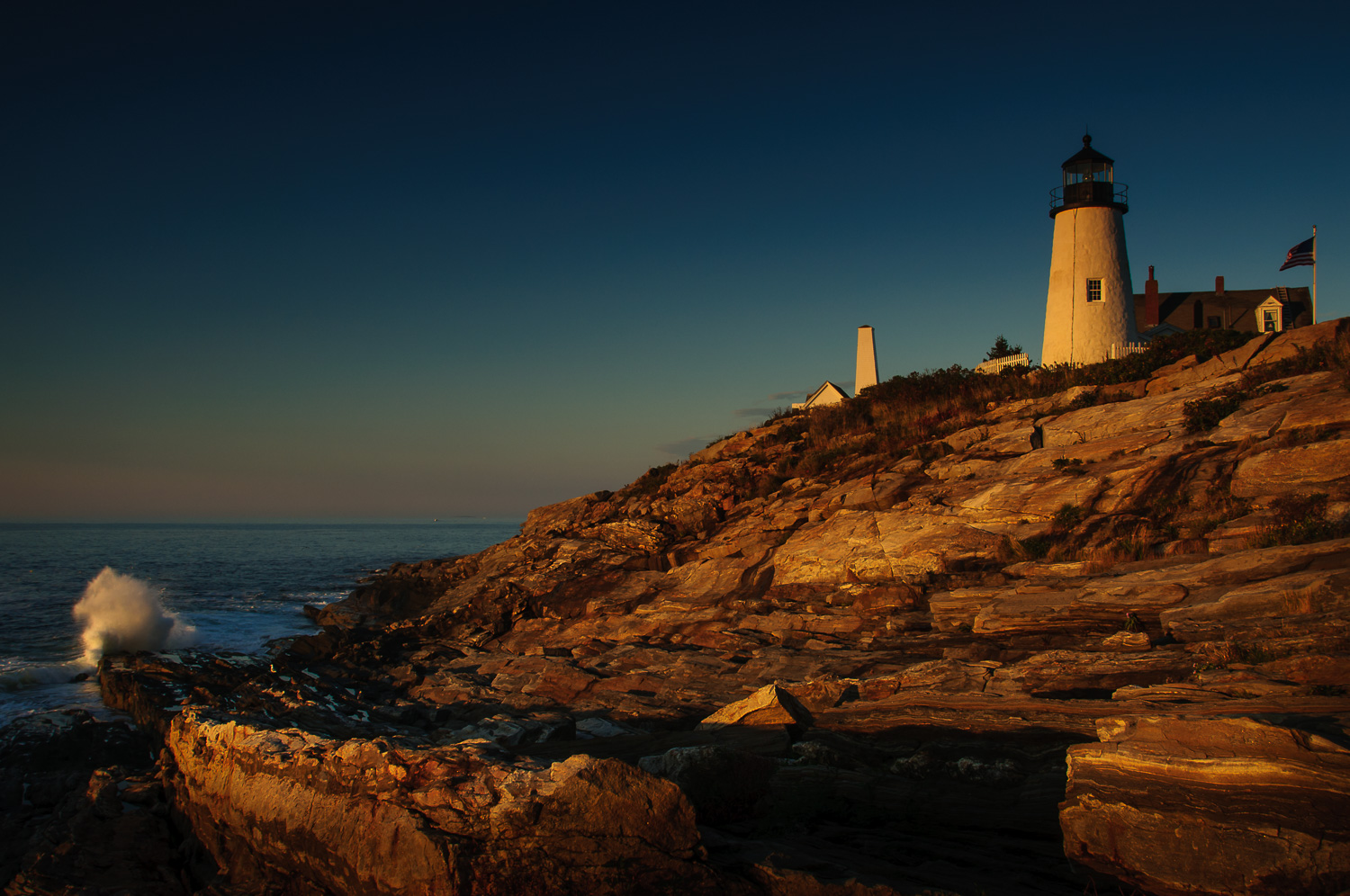MORNING GLOW AT PEMAQUID LIGHT
