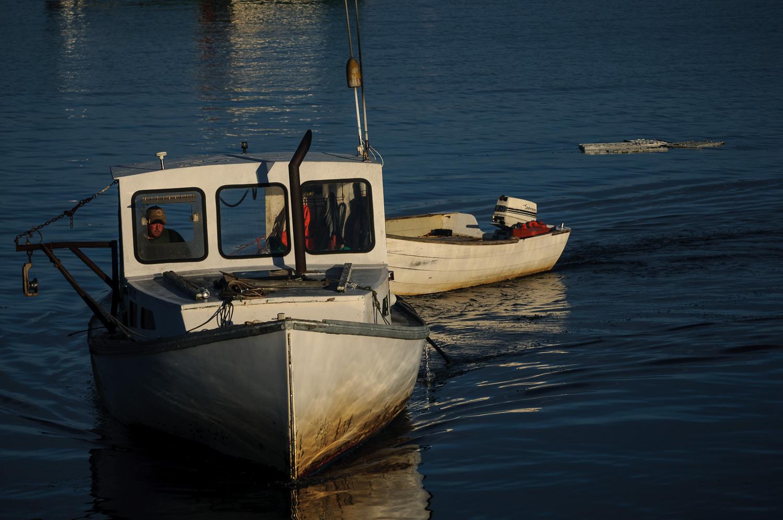 Returning lobster boat, South Freeport