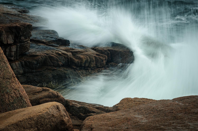 Braking wave, Acadia National Park, Mt. Desert Island