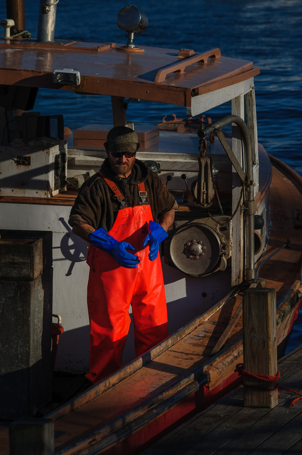 Ready to unload the catch