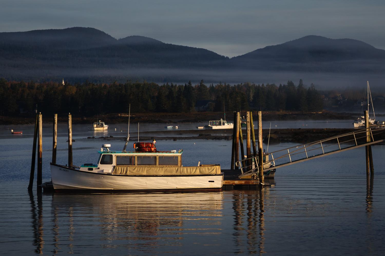 Foggy morning at Bass Harbor 2