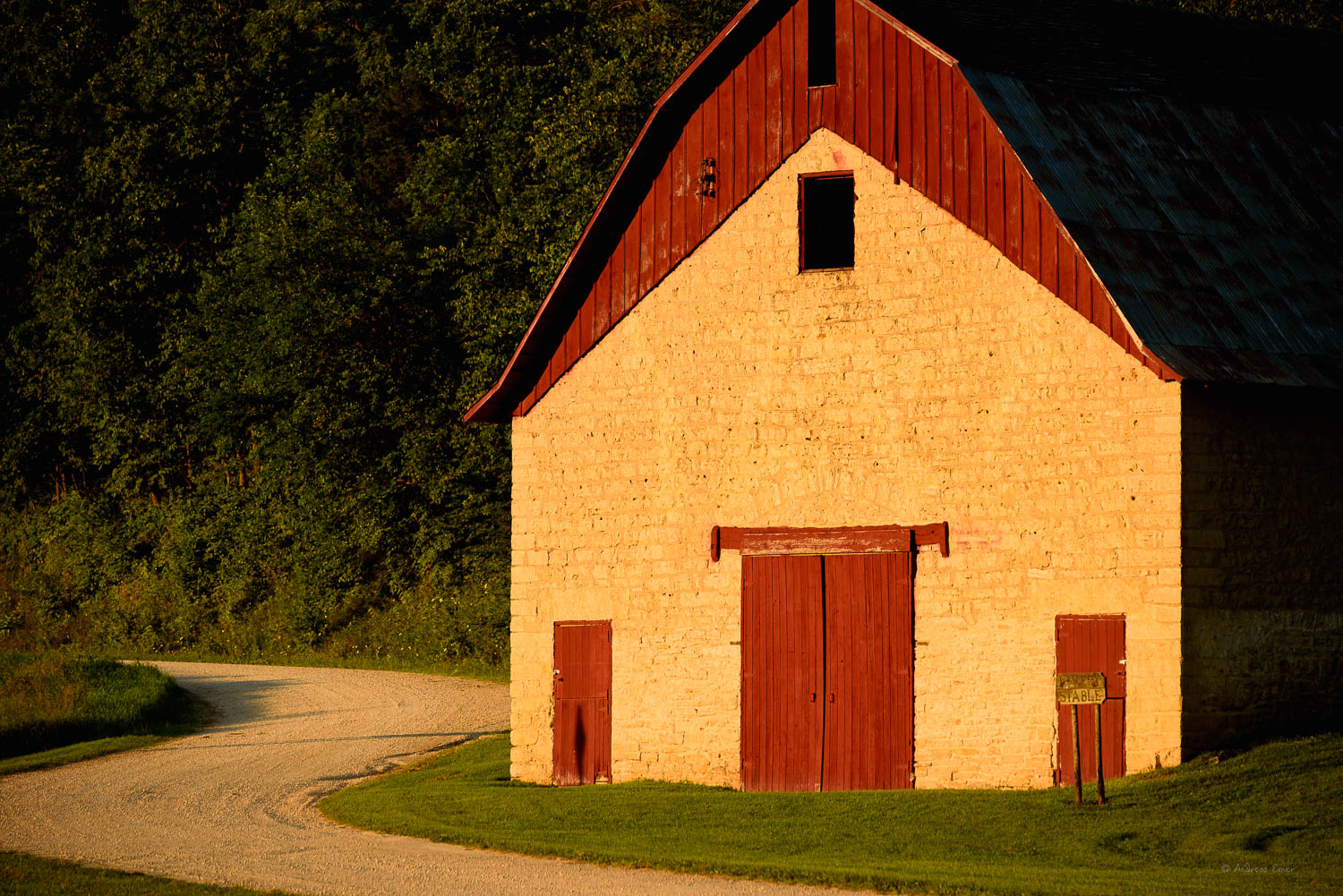 Stable, Motor Mill Historic Site, Iowa --------