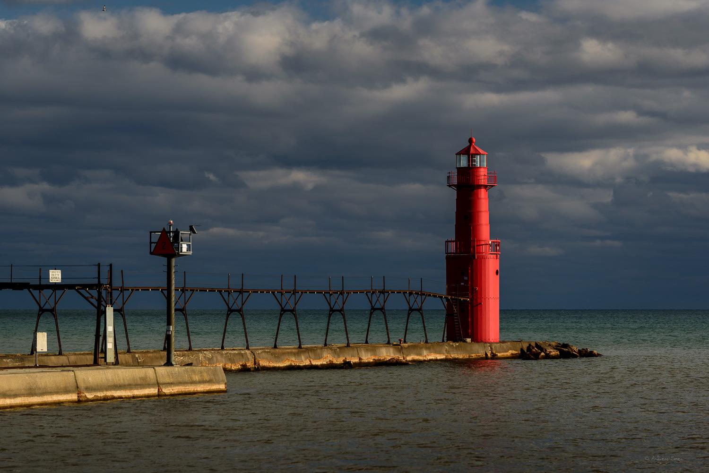 Algoma Pierhead Light, Lake Michigan, Wisconsin