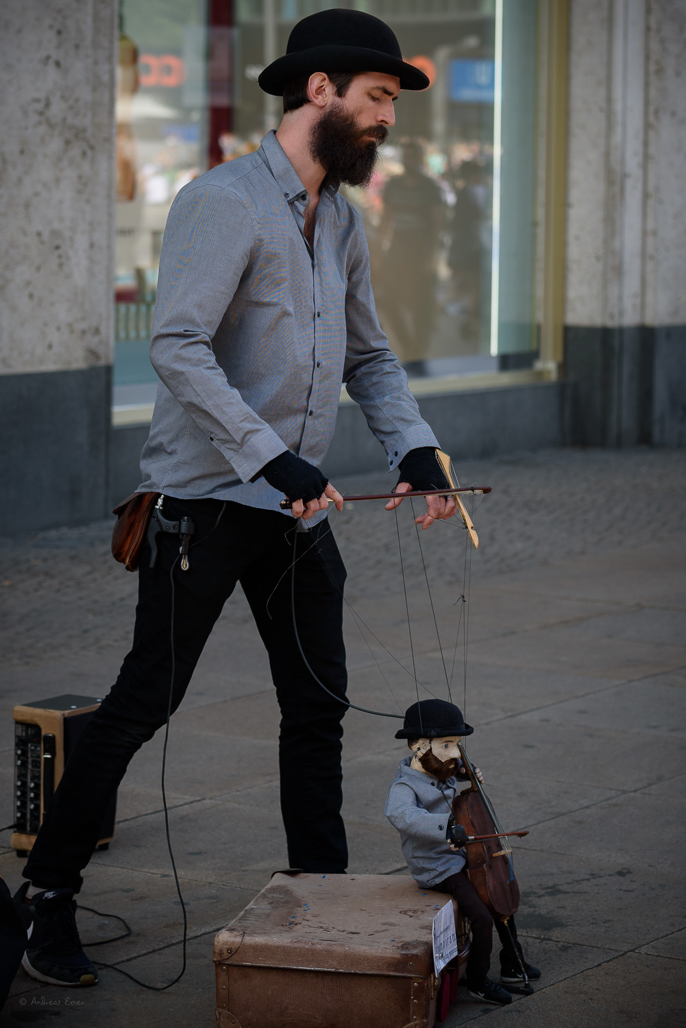 Street artist, Berlin, Alexanderplatz, Germany