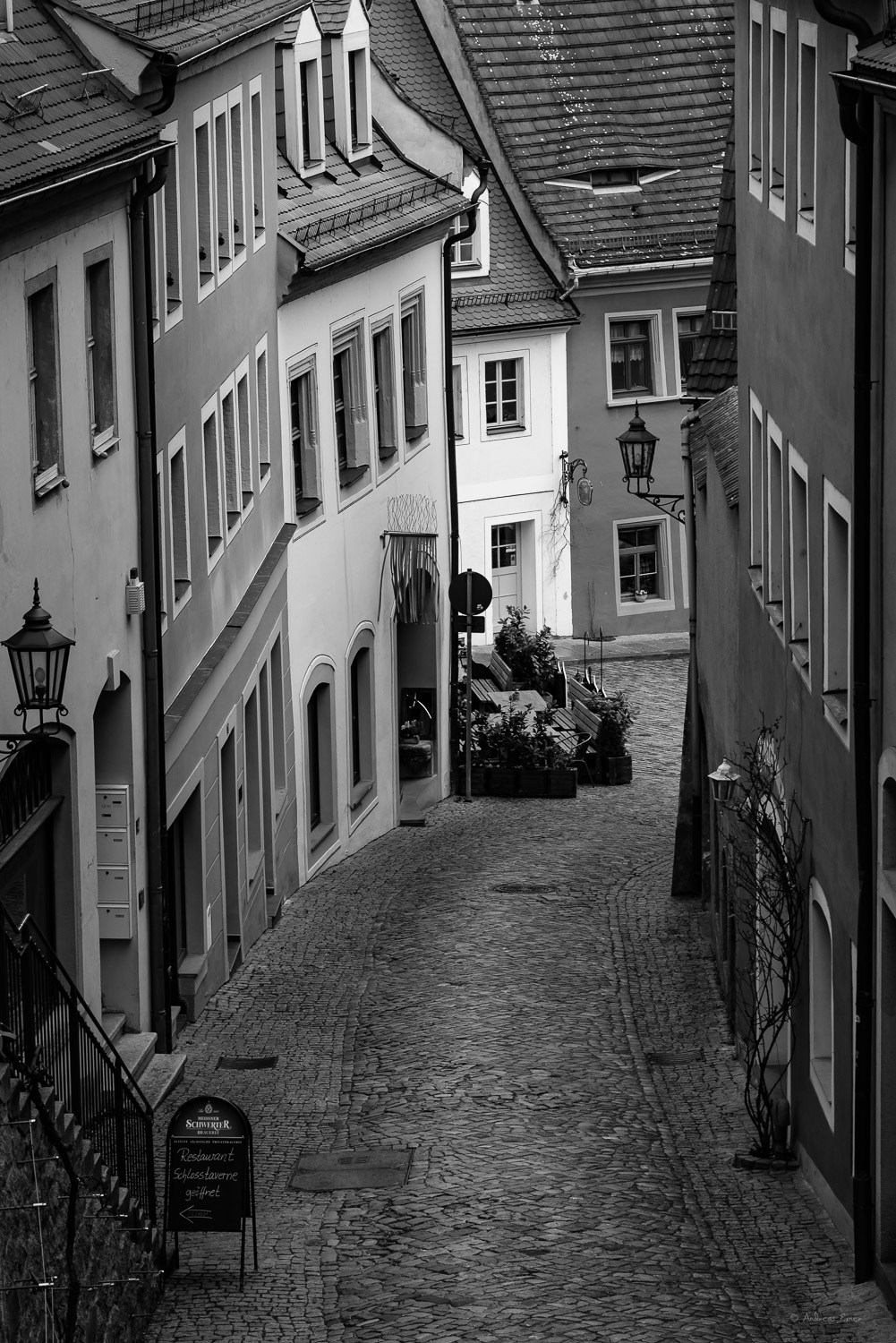 Alley in Meissen, Free State of Saxony, Germany
