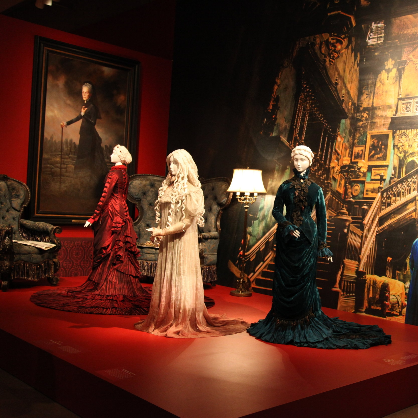 "The beautiful Victorian wardrobe of  Crimson Peak  is part of ""At Home with Monsters""."