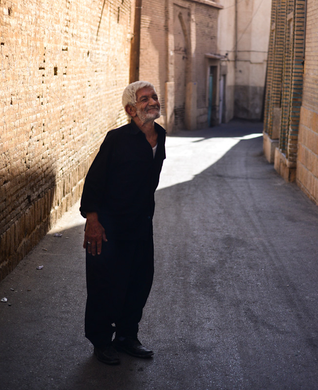 An old happy man in Shiraz