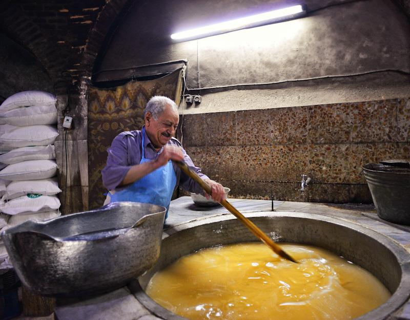Sugar making man, Yazd
