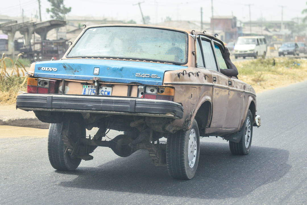 Modified goods carrying cross border vehicle in Nigeria