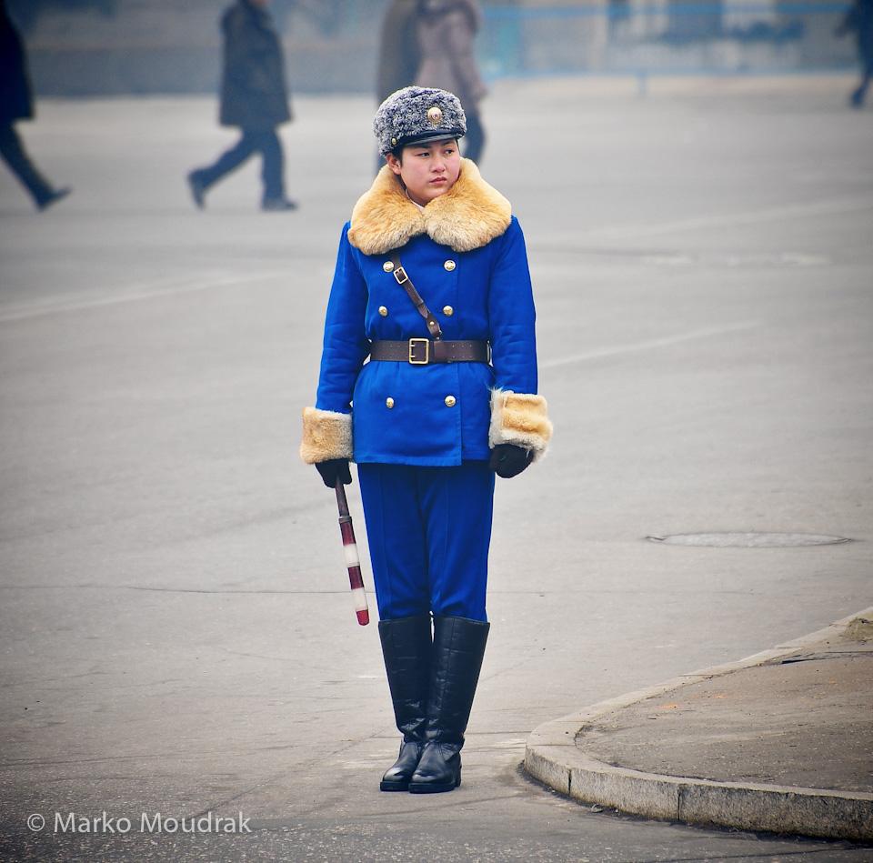 Famous Pyongyang traffic police girls