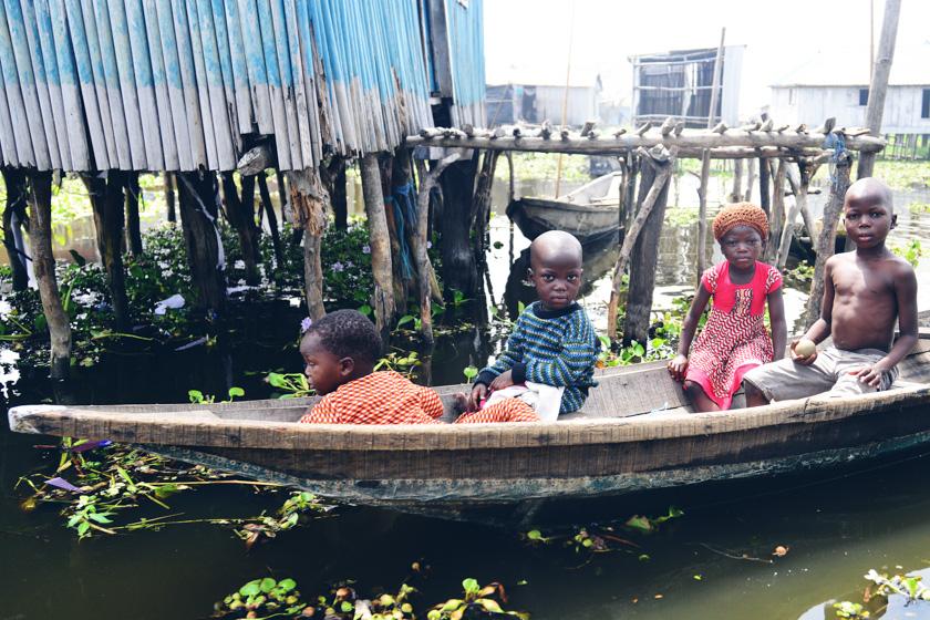 Kids in a village of Ganvie