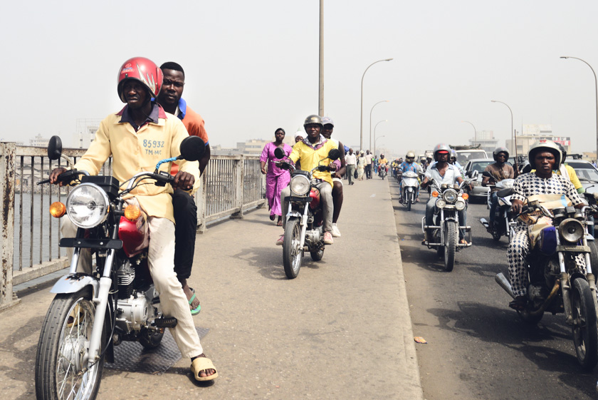Zem Zems are the live of Cotonou...just watch out as no rules of the road are followed