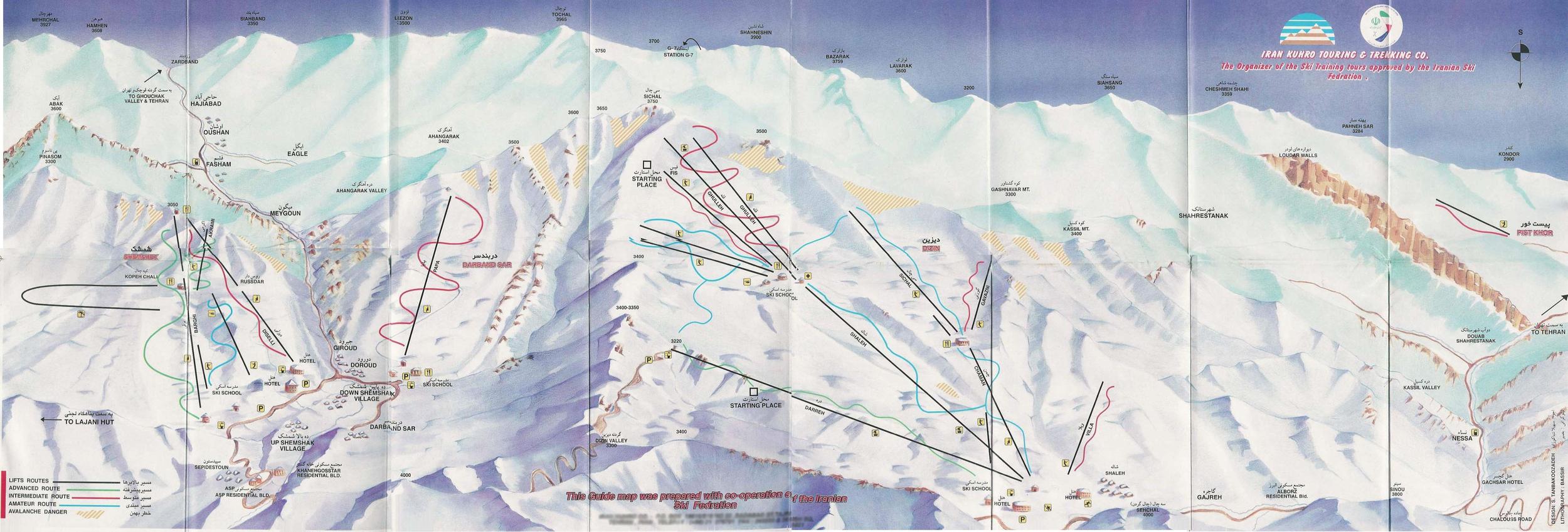 Dizin Ski Resort, Alborz Mountains, Iran