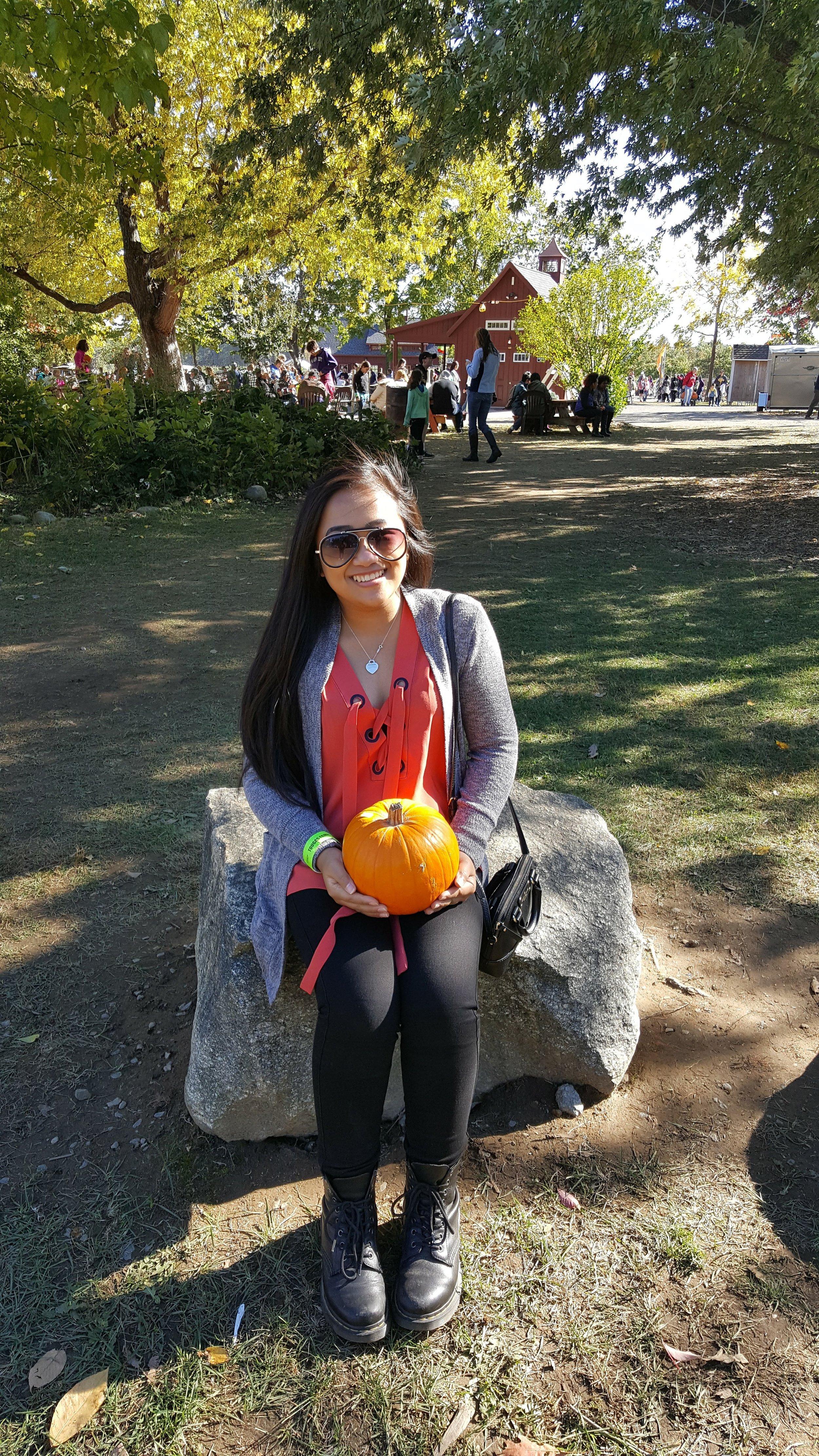 this is yna tougas farm pumpkin