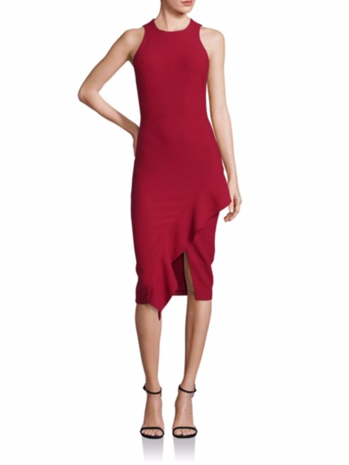 Cinq à Sept Piper Ruffle Hem Dress -
